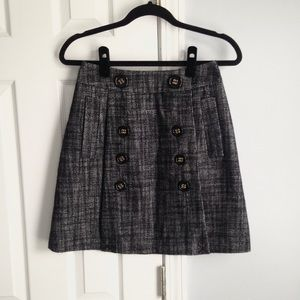 BCBGMaxAzria tweed mini skirt